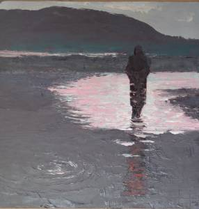 Figure on Flooded Road