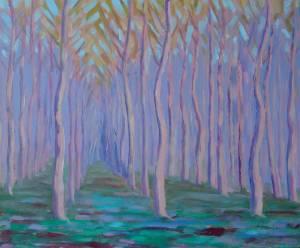 Poplars at Frontenard, France.