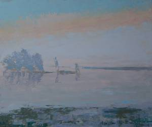 Mist on The Loire at Beaugency. France.