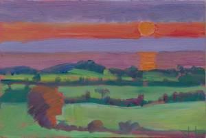 Sunrise over Blainroe, Wicklow
