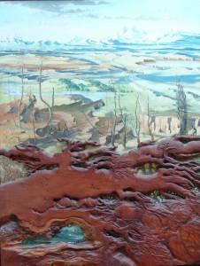 Landscape Over A Fallen Form